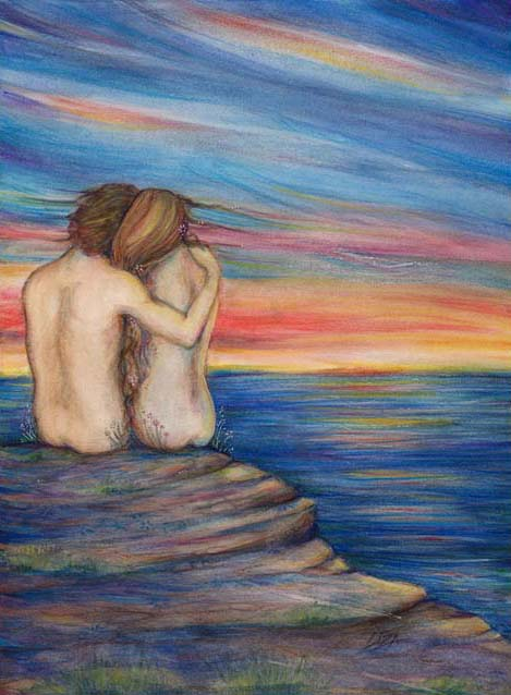 Ocean Lovers painting Liza Paizis