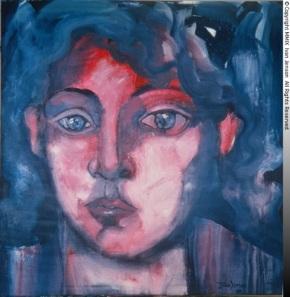 Pink and Blue Woman by IvanJenson