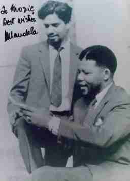 Nelson Mandela and Mosie Moolla (my father) in the mid 1950's