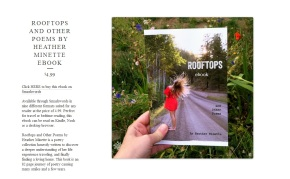 Rooftops and Other Poems by Heather Minette now available as an ebook for 4.99