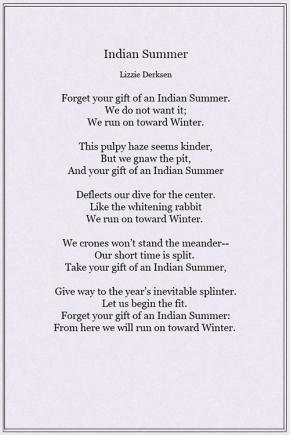 Indian Summer by LizzieDerksen